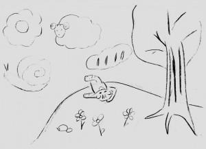 Полосатик и облака