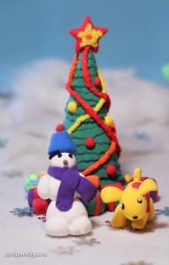 Снеговик и Тоша