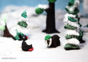 Пингвиненок с Барсуком