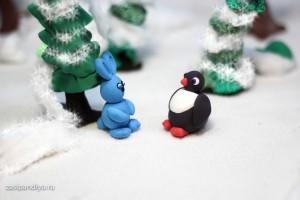 Пингвиненок и Зайчик