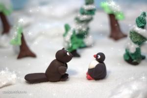 Пингвиненок с Бобром